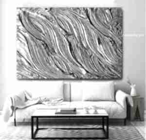 Metaliczne żłobienia - obraz na płótnie art and texture plotnie