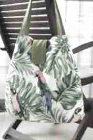 Torba worek na ramię happyart torba, worek, papugi, monstera
