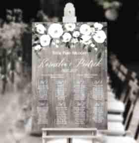 Plakat plan stołów - 50x70 cm księgi gości kreatywne wesele