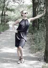 Letnia sukienka z wiskozy sukienki szary mary sukienka, zwiewna
