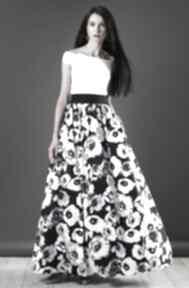 Spódnica maxi w kwiaty spódnice kasia miciak design spódnica