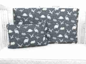 Dimozaury turkus poszewka na pościel dla chłopca m 135 x 100