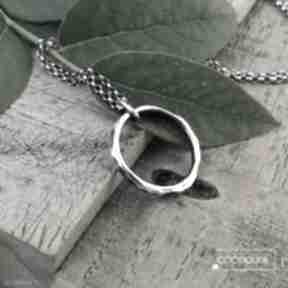 Naszyjnik z kółkiem 2cm - srebro 925 naszyjniki cocopunk