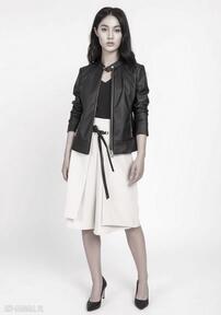 Kurtka z miękkiej eko-skóry, kr103 czarny lanti urban fashion