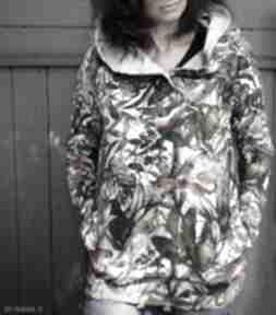 Oversize bluza hoodie ogromny kaptur gepardy xs bluzy agagu