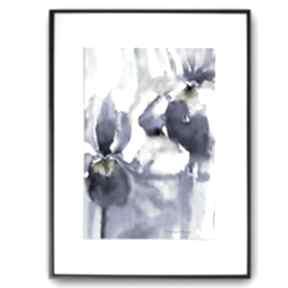 Duża grafika w ramie 60x80 latające kwiaty renata bulkszas duże