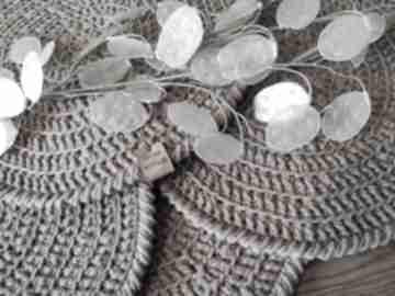 WholeWool: podkładka okrągła-podkładka dekoracja brąz-cappuccino