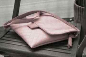 Pikowana torebka - mini karo happyart torebka, wizytowa