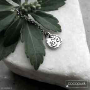 Joga naszyjnik z symbolem om - srebro 925 amulet, talizman