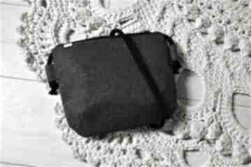 Mini plecionka grafit na ramię manufakturamms torebka, vegan