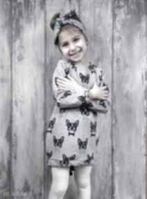 Sukienka dla dziewczynki 122 128 dziewczynka prezent bawełna