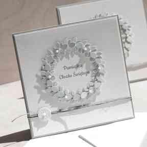 Kartka lub zaproszenie na chrzest święty scrapbooking kartki