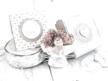 Aniołek miłości personalizowana kartka pudełeczko kartki mrufru