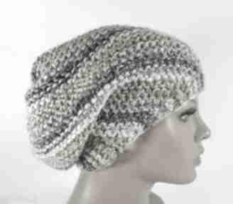 Cieniowana beżowe czapka beanie czapki elma22 czapka, beanie,