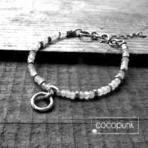 Cocopunk. Srebro i akwamaryn - bransoletka z kamieniami