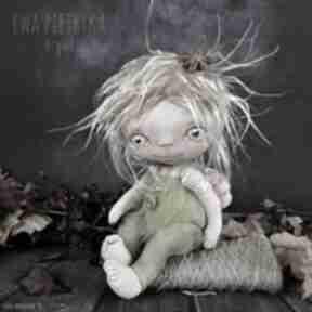 Elf światełko - lalka kolekcjonerska figurka tekstylna ręcznie