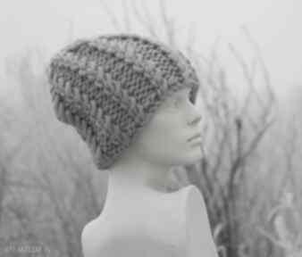 100% wool grubaśny ścieg piękny kolor ; czapki aga made by hand