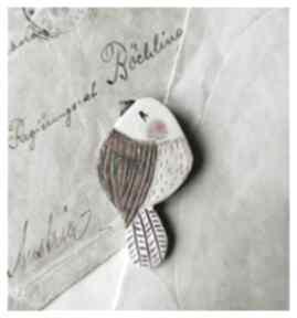 Ptaszek z fioletowym ogonkiem broszki wylegarnia pomyslow