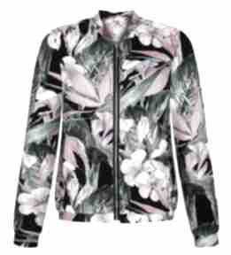 Przepiękna bomberka damska w egzotyczne kwiaty, bluza na prezent