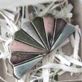 Wachlarz-broszka ceramika broszki kopalnia ciepla minimalizm
