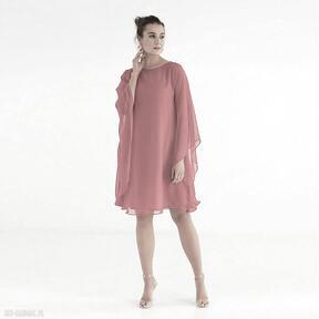 Sukienka 4 ss 2021 sukienki pawel kuzik luźna, szyfonowa, gładka