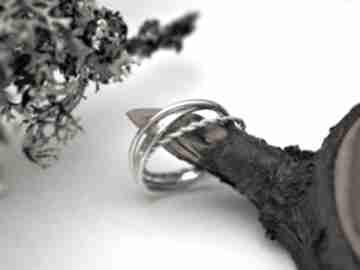 Potrójny pierścionek jachyra jewellery trinity, 3w1, złożone