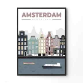 Amsterdam - ilustracja 50x70 cm plakaty hogstudio plakat