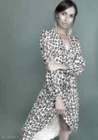 Asymetryczna, kopertowa sukienka, suk161 panterka sukienki lanti