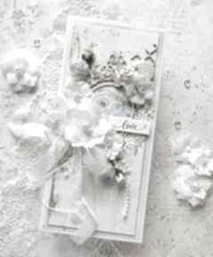 Kartka na ślub w jasnych kolorach scrapbooking kartki made by