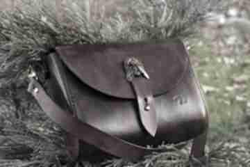 Zestaw matilda pasek damski w kolorze koniakowym na ramię ursus