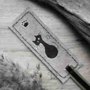 Skórzana malowana zakładka do książki kotełek zakładki wolfpath