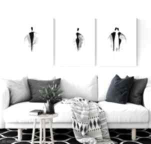 ART Krystyna Siwek. Zestaw 3 grafik 30x40 cm wykonanych ręcznie