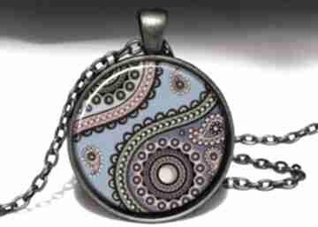 Orientalna podróż duży medalion łańcuszkiem orientalny naszyjnik