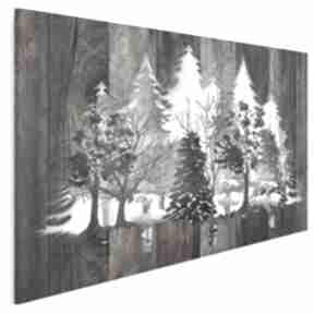 Obraz na płótnie - drewno deski natura drzewa 120x80 cm 82201