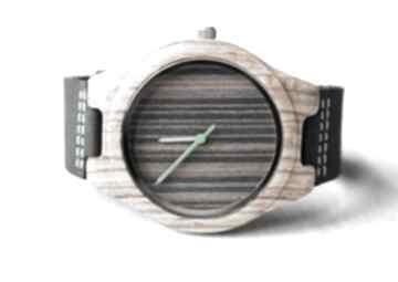 Drewniany zegarek black zebra zegarki ekocraft zegarek, zebra