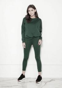 Spodnie cygaretki w kant, sd123 zielony lanti urban fashion