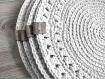 Zestaw 4 podkładek ze sznurka bawełnianego podkładki wholewool