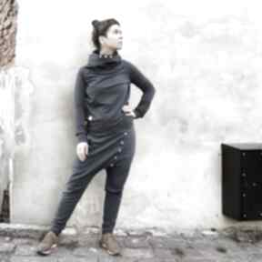 Spodnie baggy - ala jeans mimi monster obniżony krok, dresowe