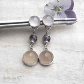 Pastelowo słoneczne - kolczyki jewelsbykt srebro kolczyki