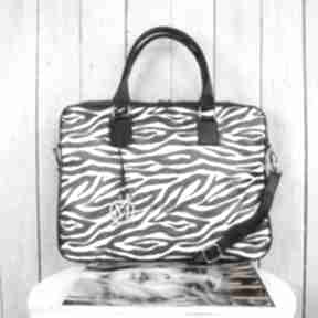 Torba na laptopa zebra manzana manzanatorebki aktówka, zebra