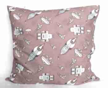 Poduszka w roboty piękna ozdoba prezent pokoik dziecka pinezka