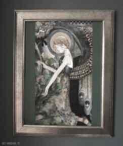 """Obraz """"anioł w ogrodzie"""" rustic city anioł, anioł-w ogrodzie"""
