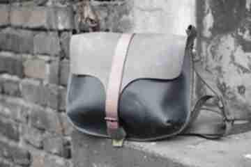 Kolorowa skórzana torebka na ramię navahoclothing mała torebka