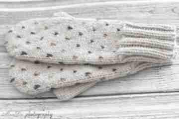 Jednopalczaste rękawiczki mondu rękawiczki, wełniane, dziergane