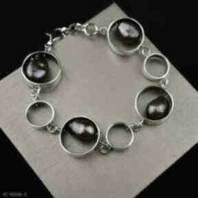 Bransoleta z barokowymi perłami srebro barbara fedorczyk