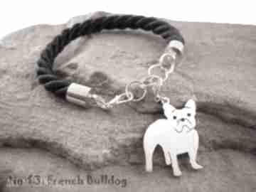 Bransoletka buldog francuski pies nr 63 frrodesign bransoletka