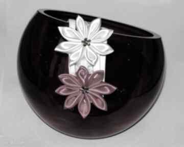 Opaska kwiatuszkami dla dziewczynki opaski chrzet prezent ręcznie