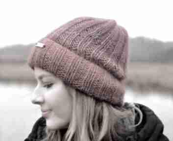 Ciepła delikatna czapka merino i kidsilk czapki the wool art