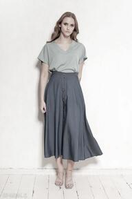 Spódnica na guziki za kolano - sp131 jeans spódnice lanti urban