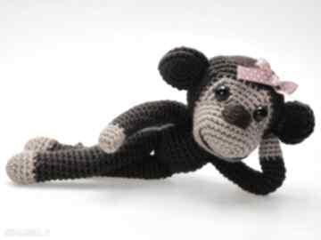 Asiek1. małpka maskotka szydełkowa przytulanka